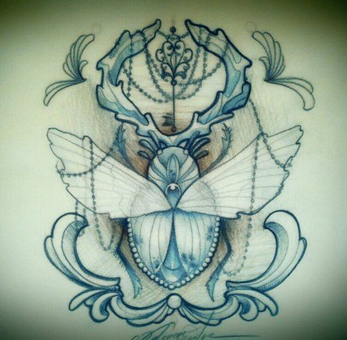 bug tattooBees Tattoo, Tattoo Flash, Tattoo Inspiration, Keys Keeper, Bugs Tattoo, Beetles Drawing, Aladdin Bugs, Sailors Kantor, Beetles Tattoo