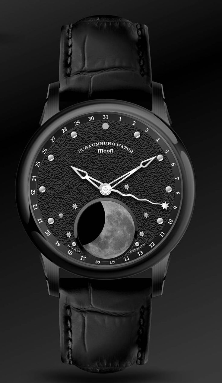 Schaumburg Watch Moon 2 - the totally black moon phase watch