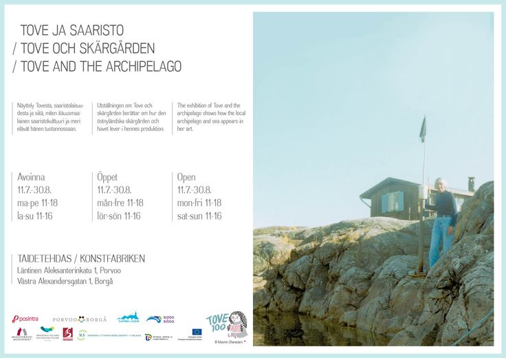 Tove and the archipelago exhibition 11.7 - 30.8.2014 at the Art Factory in Porvoo