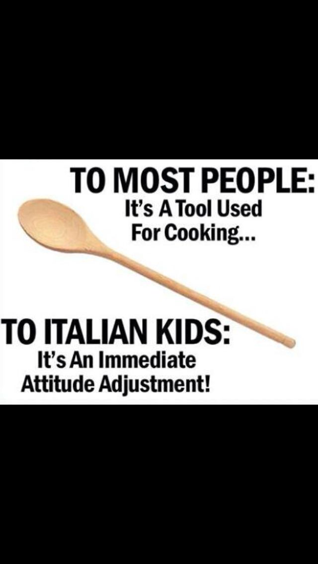 That's funny... my husbands mom is Italian and used this. The boys would throw them on the roof.