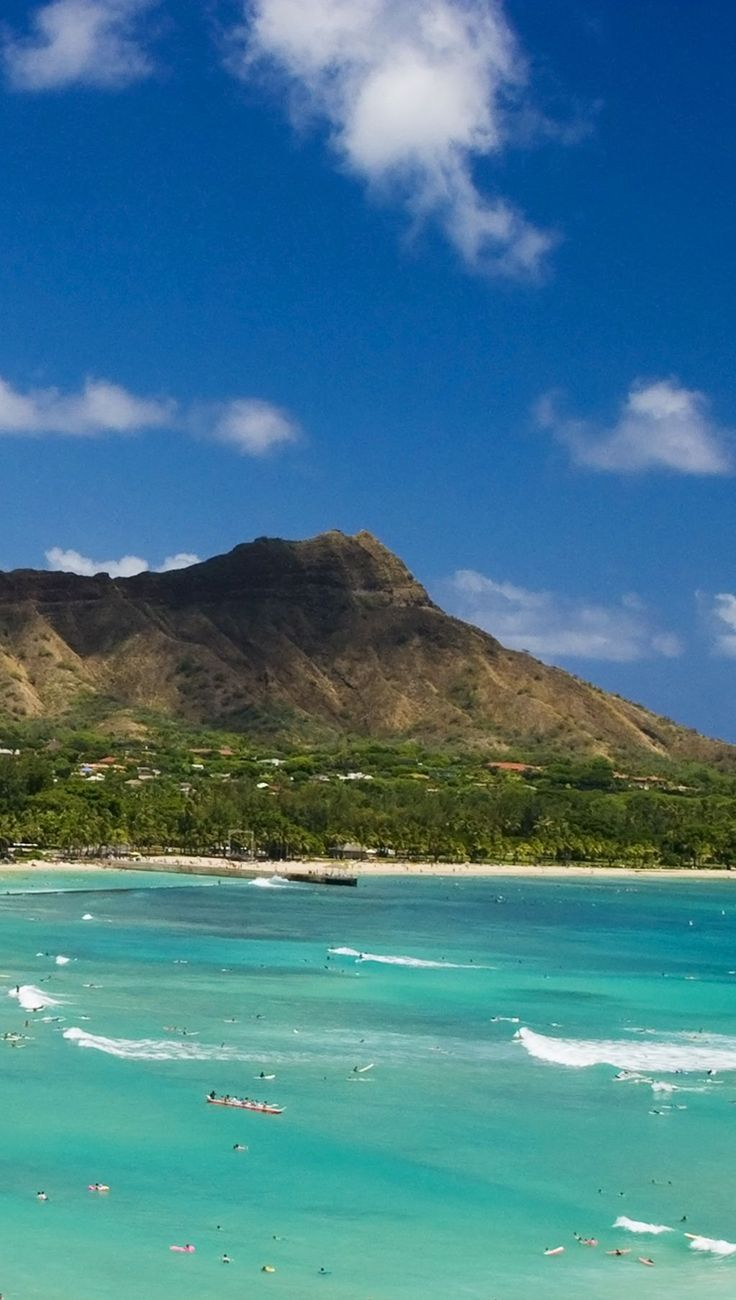 Diamond Head, Honolulu, Oahu, Hawaii.  Possibly inspiring the diamond theme.  Perhaps a 1956 Vintage Potluck Luau?