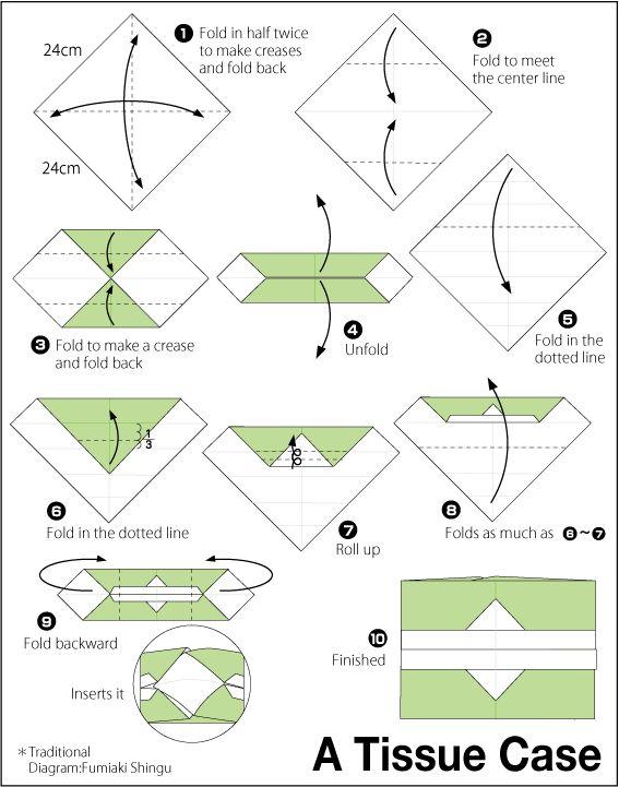 Origami Tissue Case