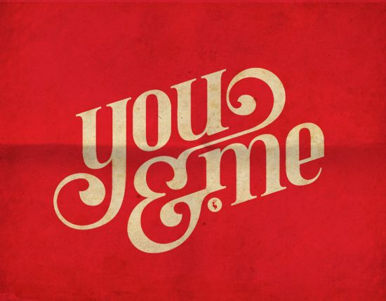 you & me, logo, designLogo Design, Inspiration, Fonts Style, Types Design, Graphics Design, Typography, Letters, Vintage Type, Wedding Fonts