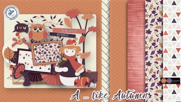 A ... Like Autumn by LeaUgoScrap - Blue Bird Mix and Match