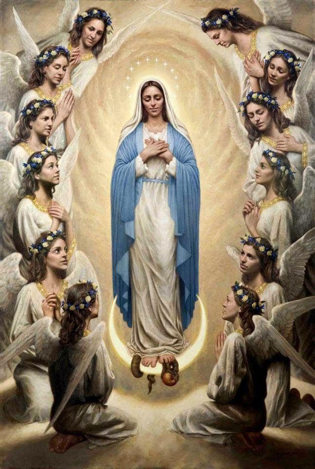 Luce nel cuore: 15 agosto: L'Assunzione di Maria al cielo- 15 de A...