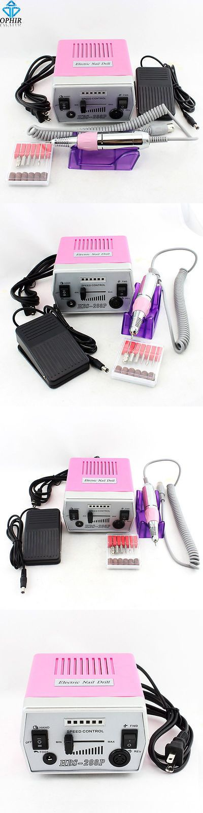 Manicure Pedicure Tools and Kits: Electric Nail Drill Machine 30000Rpm Nail File Bits Nail Tool 220V Uk/Eu Plug BUY IT NOW ONLY: $42.79