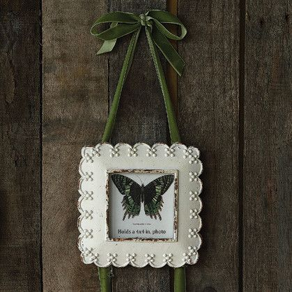 Antiqued white picture frames $17.50 #frames #antique #decor