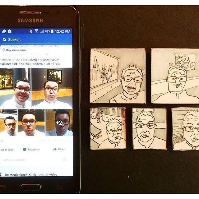"""Oefenen met gezichten  2017 beleef ik met tekeningen maken en wel met, elke dag een tekening.  #elkedageentekening Is mijn #goedevoornemen voor 2017.  #kevers De kevers maak ik ook nog, maar niet meer elke dag. Instagram blijft de plek voor kever foto's. Er gaat dit jaar ook een webpagina komen, voor verkoop van kevers.  #tekeningen Op Google+ SandraWestgeest, plaats ik mijn dagelijkse tekeningen en krabbels. In een Facebook community """"Elke dag een tekening"""" (los geschreven) kan je met me…"""