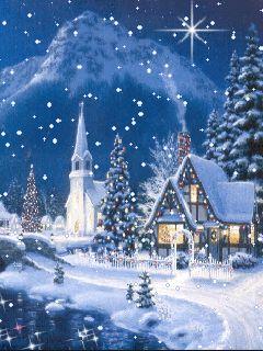Christmas night gif.                                                                                                                                                                                 More