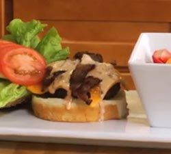 Delicious Grilled Hamburger with Homemade 1000 Island Dressing. Easy-to-follow recipe.