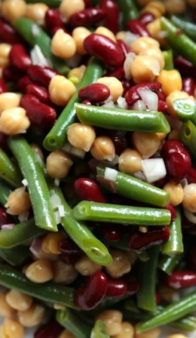 Three Bean Salad. Didn't turn out well. Should set overnight to soften
