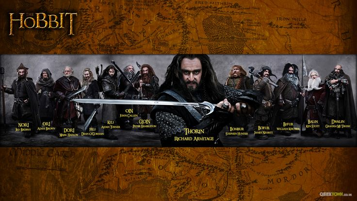 This is the 13 dwarves in the movie, The Hobbit. This group of dwarves are also known as Thorin & Company. Can you name all 13?