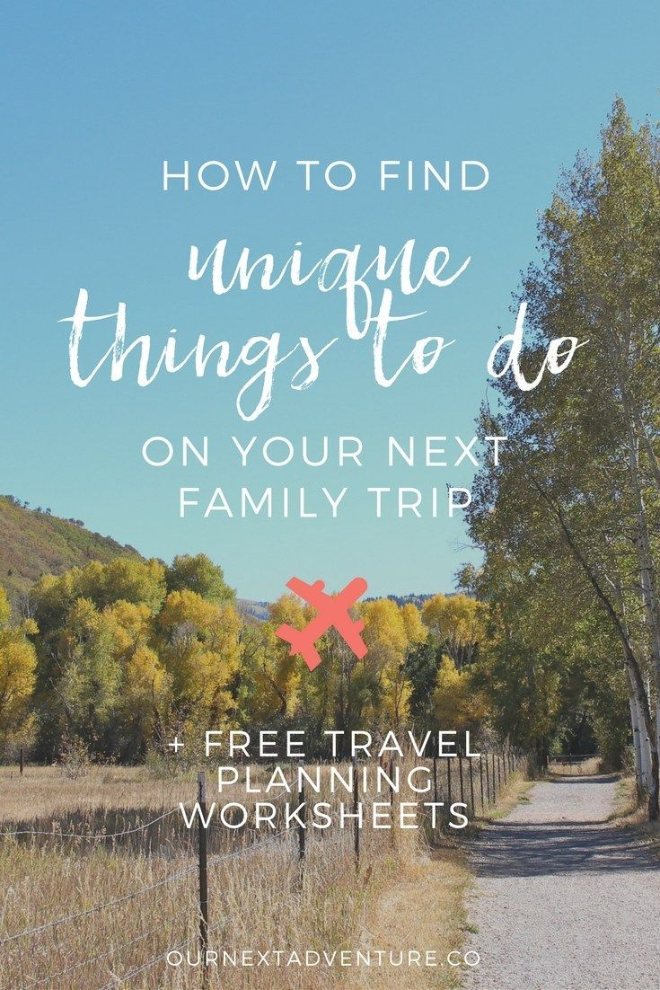 Tips for finding unique experiences for your next family vacation. // Travel with Kids | Plan a Vacation | Family Vacation Ideas