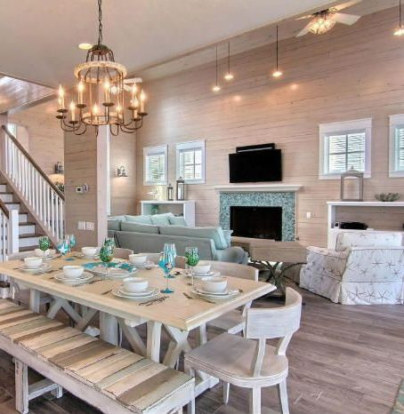 Like BENCH Idea W Dining Table Beach House Living