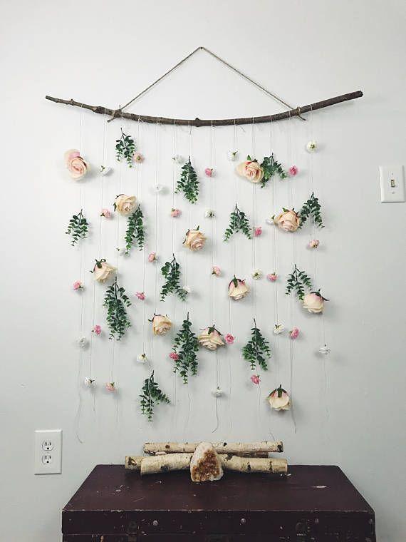 rose flower wall hanging  hanging flower backdrop  floral