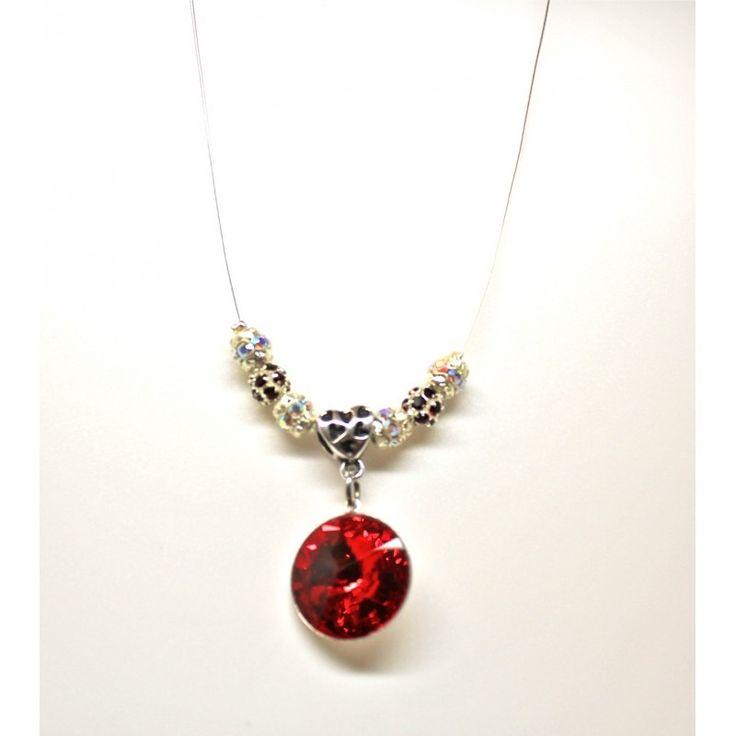 CABOCHON SIAM Swarovski collier strassé : Collier par ecrindebijoux
