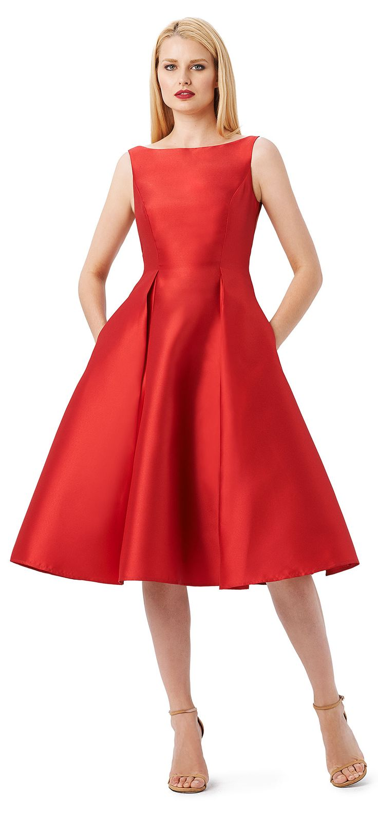 The 25 best red midi dress ideas on pinterest wedding for Red midi dress wedding guest
