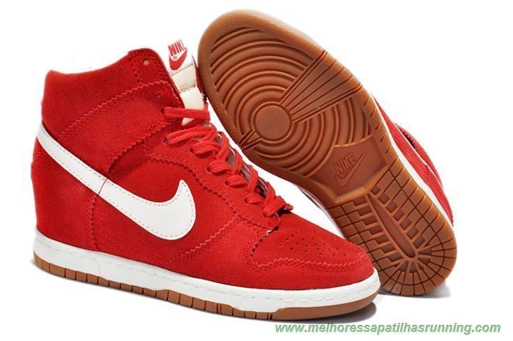 comprar tenis online Nike Dunk SB Sky Hi Vermelho 8091-008 Mulheres