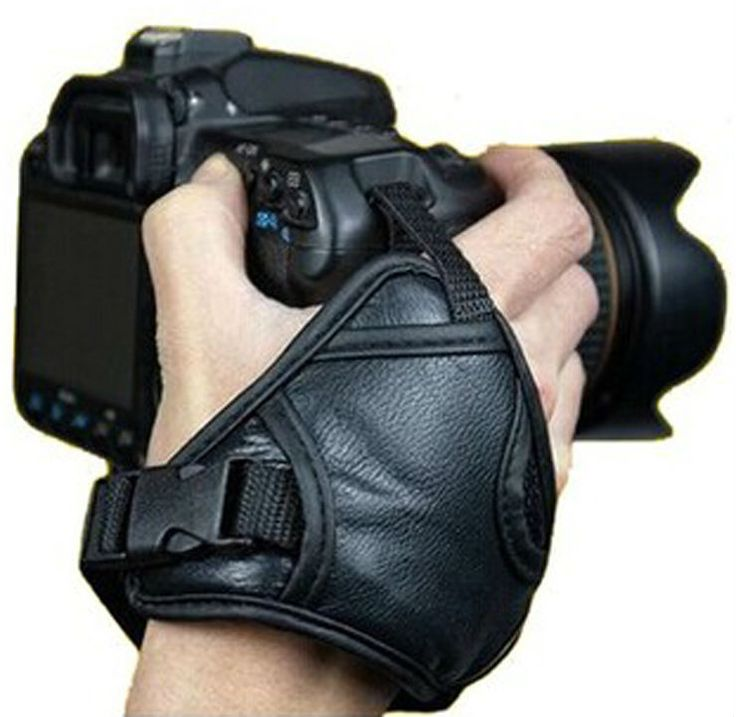 New Hand  Leather  Grip for NIKON D90 D7000 D3100 D5100 D5200 For Pentax DC8 For Canon 7D 650D Free shippin