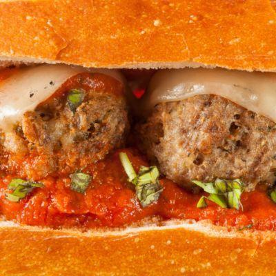 about Sandwiches: Meatball on Pinterest | Buffalo chicken meatballs ...
