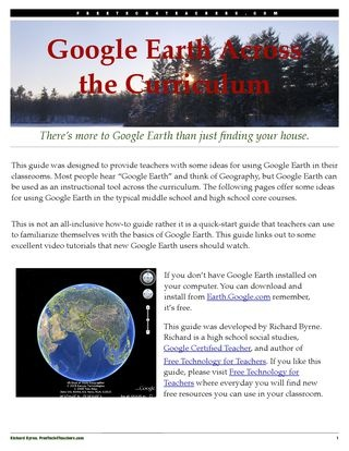 Googe Earth across the Curriculum from FreeTEch4Teachers