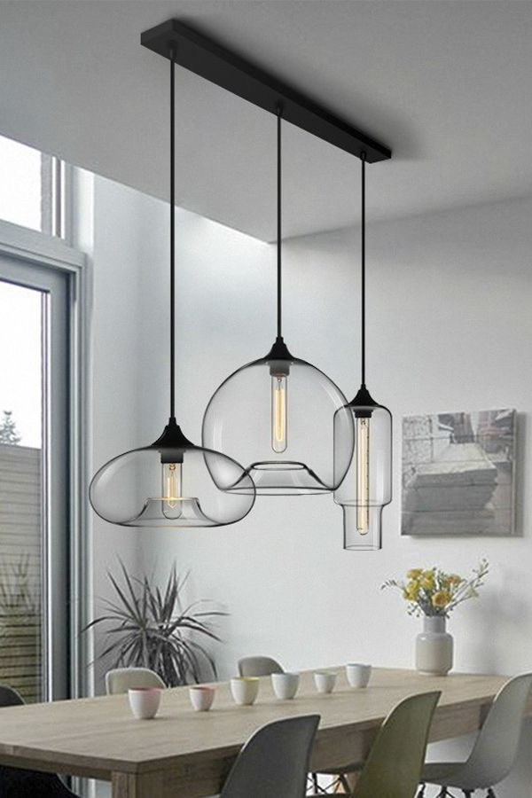 Nordic Modern Hanging 7 Color Glass Pendant Light Pendant