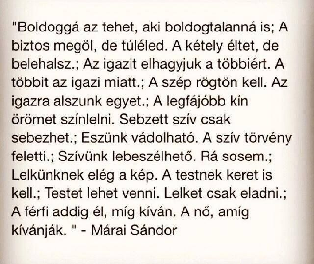 Márai Sándor gondolata