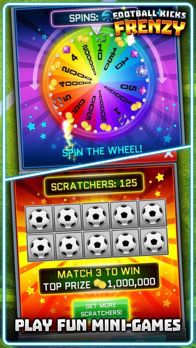 Win amazing prizes in MINIGAMES from spin to win to scratch cards.