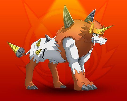 Dorulumon from Digimon Fusion.