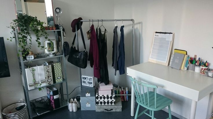 Our very first work space in our very first bedroom