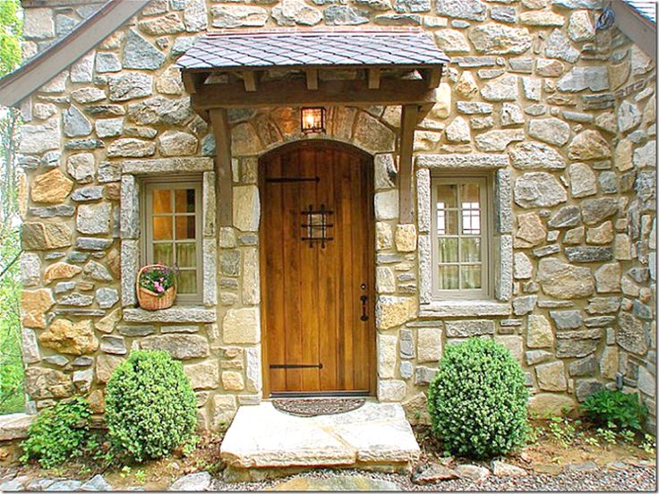 Stone Cottage With Wood Door In North Carolina Mountains