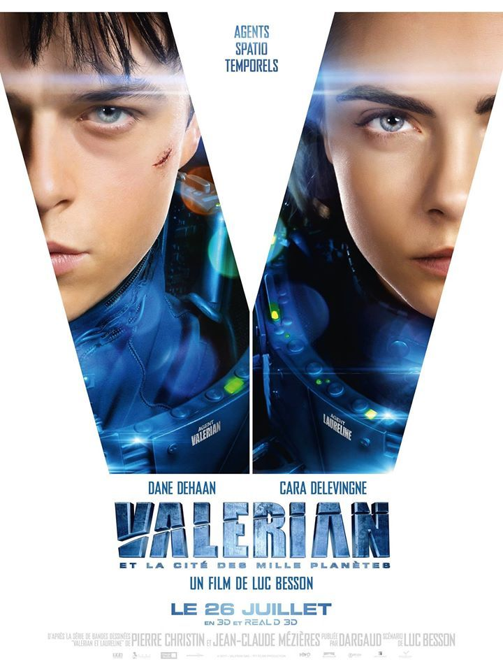VALERIAN en avant-première Mardi 25 Juillet à 20h25 et Mardi 25 Juillet à 22h45 en 3D Infos et réservation sur www.majestic-cinemas.com