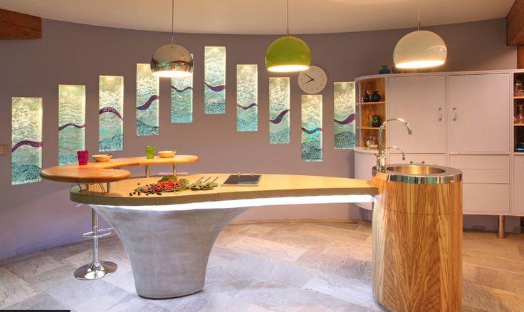 Pool kitchen island. For Johnny Grey