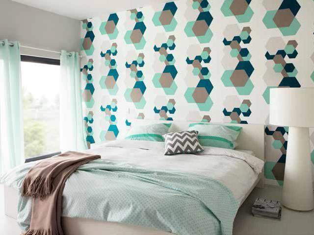 Welk behangpapier past het best bij jou? Foto: www.colora.be (retro • slaapkamer)