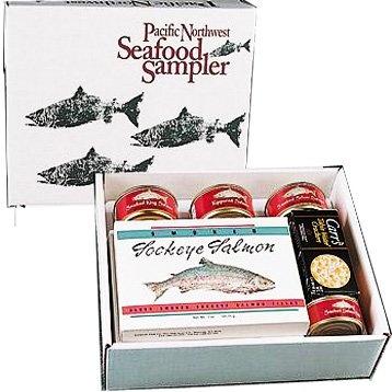 Pacific Northwest Smoked Salmon Seafood Sampler - Kosher Gourmet Food Gift Basket
