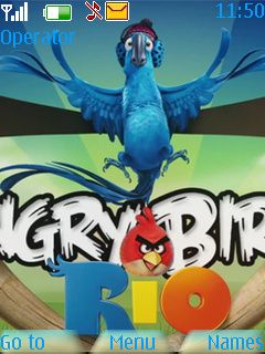Download free Angry Birds Rio Mobile Theme Nokia mobile theme. Downloads hundreds of free 5300,6300,6267,6500 classic,7500 Prism,6555,5310,5610,6301,6500 slide,6300i,5000,5220 XpressMusic,6600 slide,6600 fold,3600 slide,6233,6234,6270,6280,6282,5130 XpressMusic,6208c,6700 classic,6303 classic,2700 classic,6600i slide,2730 classic,5330 Mobile TV Edition,6303i classic themes to your mobile.