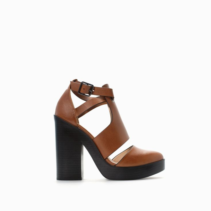 HIGH HEELED OPEN BOOTIE - Shoes - TRF - SALE | ZARA Canada Ref. 7200/301 99.90 CAD UPPER 100% POLYURETHANE LINING 20% POLYESTER 80% POLYURETHANE SOLE 100% THERMOPLASTIC RUBBER