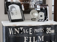 Bliss Ranch: My Kodak Moment  Cool dresser re-do. A different theme could be used, too!