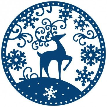 Tattered Lace Snowglobe Reindeer Toppers Die (TL-ACD106).