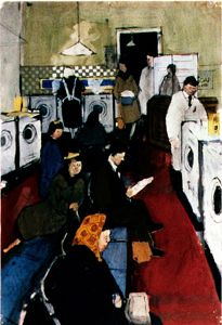 I love the Laundrette - DAVID HOCKNEY : PAINTINGS  The Launderette 1954
