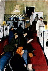 I love the Laundrette - DAVID HOCKNEY : PAINTINGS  The Launderette 1954