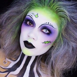 And this more frightening take on Lady Beetlejuice. | 25 Chilling Tim Burton Costumes You Should Try This Halloween