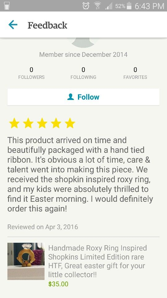 Another amazing feedback.. the reason I do what I do  feels great when people love my products as much as I love making them! #etsy #etsyshop #shopkins