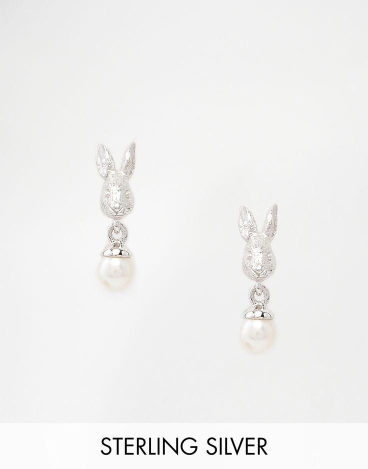 Image 1 ofBill Skinner Rabbit Pearl Earrings