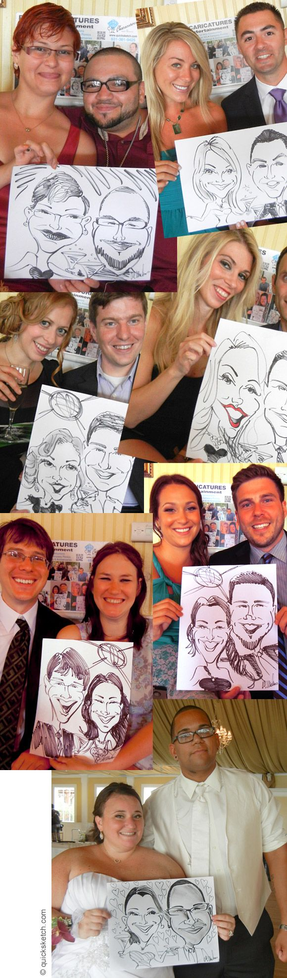 collection of wedding caricatures