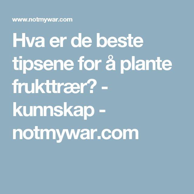 Hva er de beste tipsene for å plante frukttrær? - kunnskap - notmywar.com