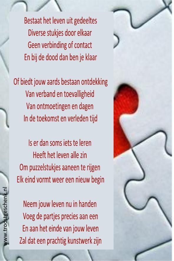Gedicht Puzzel Gedichten De Dood En Citaten