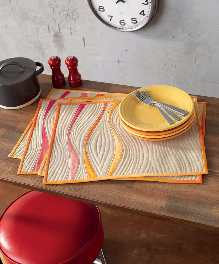 39 Best Quilted Placemats Images On Pinterest Table