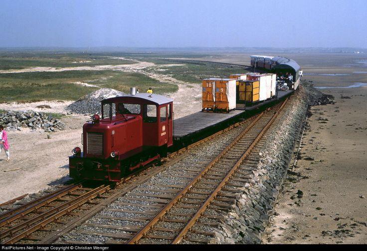 Narrow Gauge Railroad on a Northern Sea Island: Train from Wangerooge Town to Wangerooge Port.