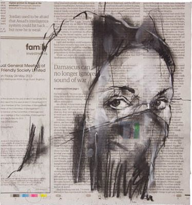 WHERE IT STARTED AND ENDED   guy denning 26 x 24 cm Conte sur papier journal…